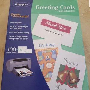 18 Blank Greeting Cards w/envelopes